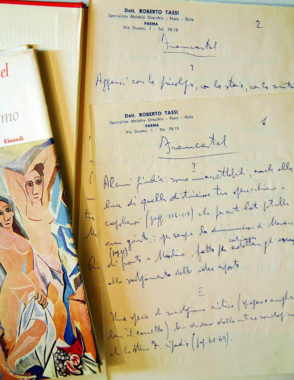 Annotazioni di Roberto Tassi su un libro della sua biblioteca