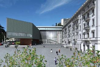 La piazza del futuro Centro Culturale di Lugano