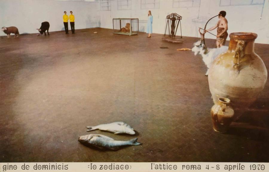 Il manifesto per la mostra «Lo Zodiaco» di Gino De Dominicis