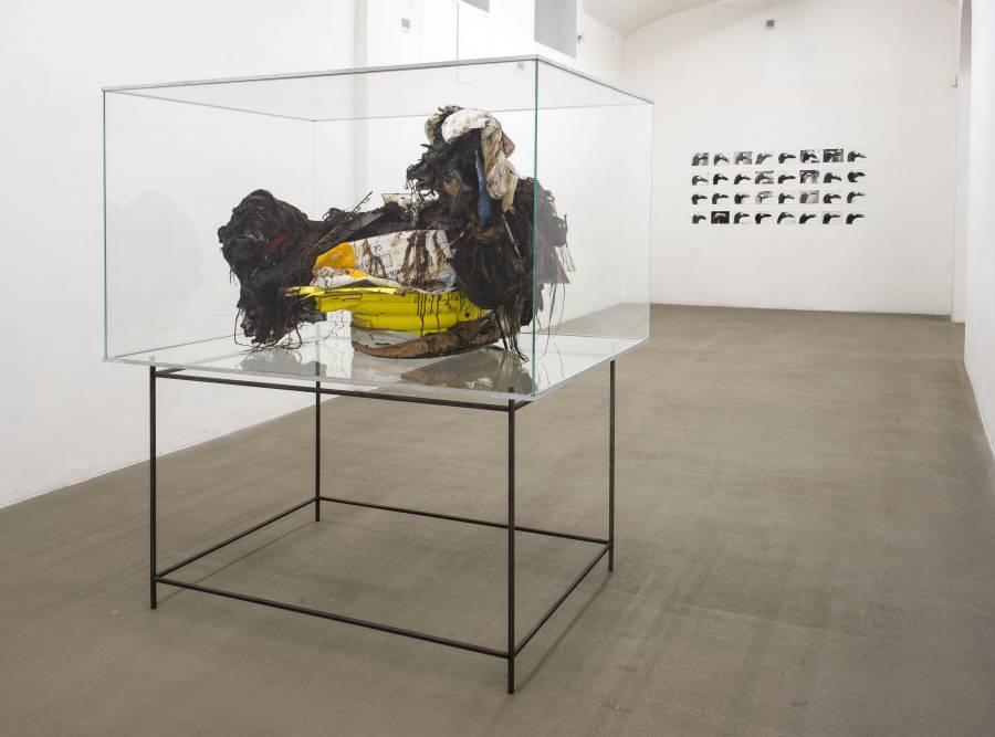 Una veduta della mostra alla Fondazione Giuliani