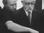 Antonio Calderara e Karl Prantl (1969) - Foto Arno Hammacher