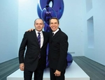 Victor Pinchuk e Jeff Koons al Pinchuk Art Centre di Kiev