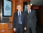 Il presidente Carlo Gabbi e il segretario generale Luigi Amore alla cerimonia di premiazione dell'Oscar di Bilancio 2011 - Milano
