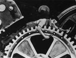 Charlie Chaplin e la fabbrica: Tempi Moderni (1936).