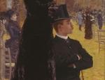 Giuseppe De Nittis Alle corse di Auteuil Sulla seggiola 1883 Olio su tela Barletta Pinacoteca Giuseppe De Nittis (foto Pierluigi Siena