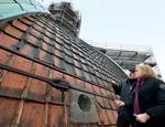 Una delle catene che sorreggono la cupola di Santa Maria dell'Umiltà a Pistoia