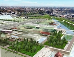 Expo Milano 2015: veduta del canale del master plan